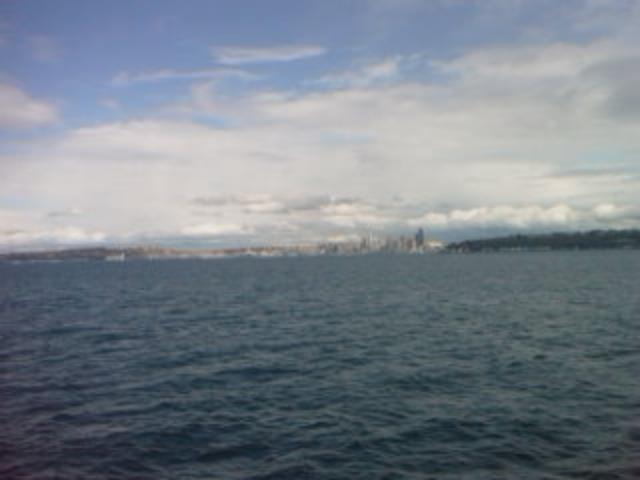 Seattle from ferry..